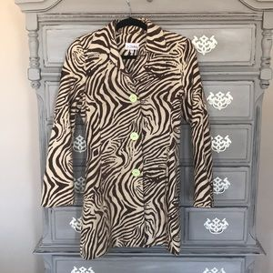 Animal print coat size small